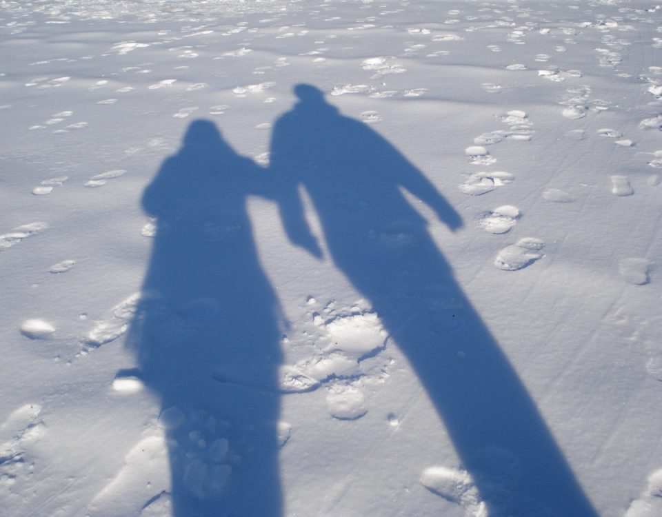Katie and George, Winter Shadows